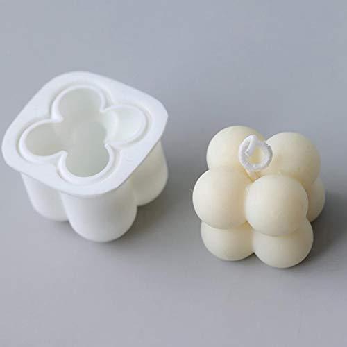 Tiantian, stampo per candele fai da te in silicone, a forma di cubo di rubino per candele, cioccolatini fatti a mano, cibo per bambini, adulti, Natale, Capodanno, decorazione per casa e ufficio