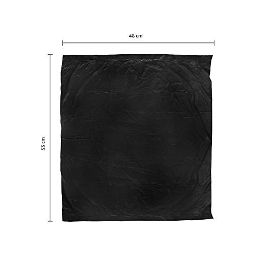Amazon Brand - Presto! Oxo-Biodegradable Garbage Bags, Medium (19 X 21 Inches) - 30 Bags/Roll (Pack Of 6, Black 5