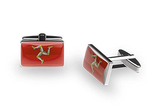 Cuffs 'N' Collars Triskel Mannois Boutons de manchette (avec boîte cadeau)