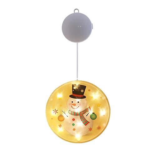 Ttiy Luces colgantes de Navidad, cadena de luces de ventana, funciona con pilas, luces de alambre para decoración de Navidad para regalos de Navidad, decoración del hogar (2)