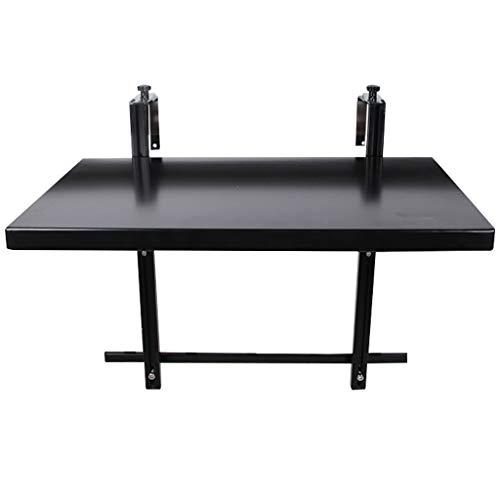 Balcon Suspendu Table Multifonction en Aluminium Table Pliante, Support de Structure Triangulaire Peut Supporter 20 kg, la Hauteur de la Table Peut être ajustée