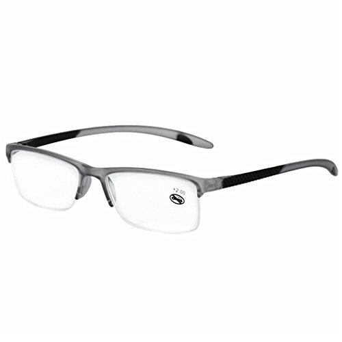 Lesebrille, Unisex, Presbyopic EyeGlasses Full Frame +1,0 bis +3,5 Portabl (Grau, 1,5)