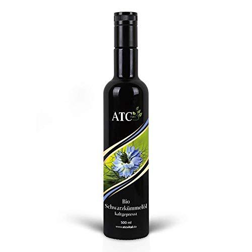 ATC Vital | BIO Schwarzkümmelöl kaltgepresst und gefiltert, reines Öl aus Nigella Sativa Samen, 500ml