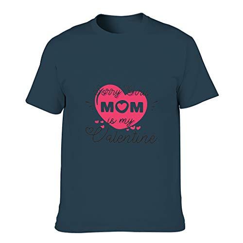 FFanClassic Camiseta de algodón para hombre con texto en inglés 'Sorry Girls' y texto en inglés 'My Mom is My Valentine Tattoo Cool Individualit', manga corta