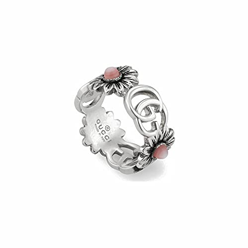 GUCCI Ring with Flowers and Double G 58 YBC527394002018