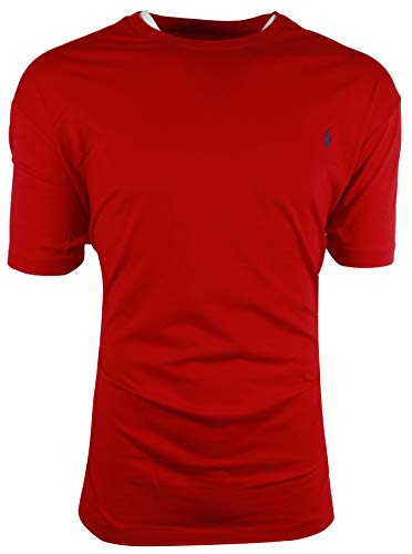 Compare Textbook Prices for Polo Ralph Lauren Men's Crew-Neck Pony Logo T-Shirt Classic Fit Small, Red/Navy Pony  ISBN 0727180145085 by