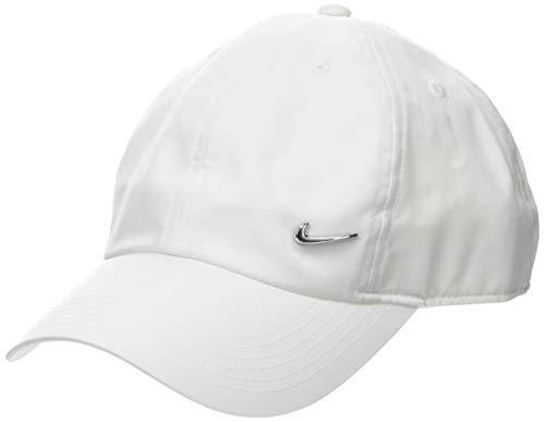 Nike Y Nk H86 Cap Metal Swoosh Hat, Unisex niños, Blanco (White/Metallic Silver), Talla única