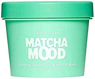 I DEW CARE Matcha Mood Face Mask - Green Tea Wash-Off Face Mask - Korean Skin Care Face Mask With Green Tea And Aloe Extract, Soothing Face Mask To Balance, Revitalize And Moisturize Skin (3.52 oz)