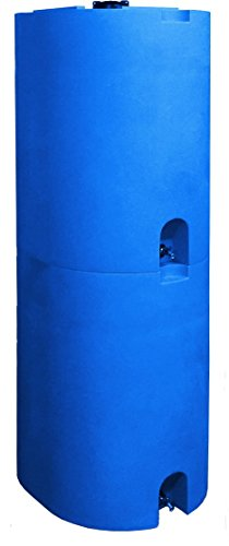 Blue 55 Gallon Water Storage Tank by WaterPrepared - Emergency Water Barrel Container with Spigot for Emergency Disaster… 4