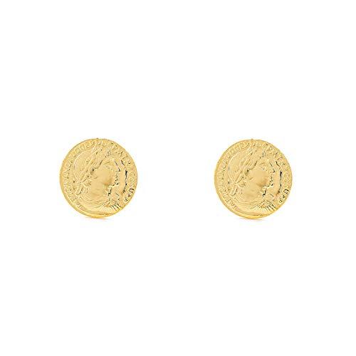 Dames kinderen Romeinse munt oorstekers 925 sterling goud zilver