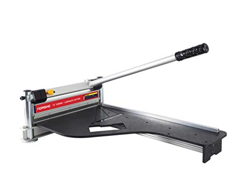 Norske Tools Newly Improved NMAP001 13 inch Laminate Flooring and Siding Cutter with Heavy Duty Fixed Aluminum Fence and Built-in Precision Angled Miter Settings