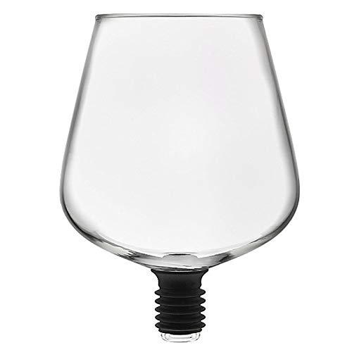 Domilay Artículos de Bar Transparente Directo Al Decantador de Vino Bebida Copa de Vidrio Empacada en Tapón de Botella de Vino Herramientas de Bar