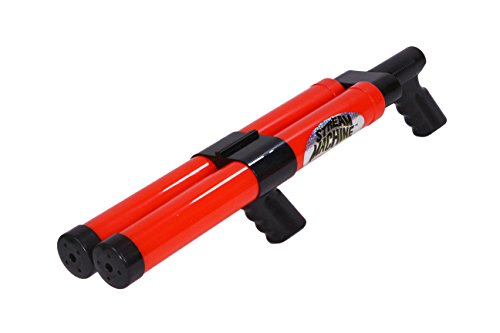 Stream Machine Water Gun DB-1500 Double Barrel Water Launcher, 24 Inch Water Soaker Gun Shoots 40+ ft, Pool Squirt Gun for Outdoor Summer Fun
