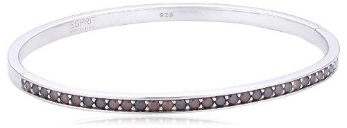 ESPRIT Collection Damen-Armreif 925 Sterling Silber rhodiniert Glas Zirkonia Perseus Autumn braun ELBA91039C600