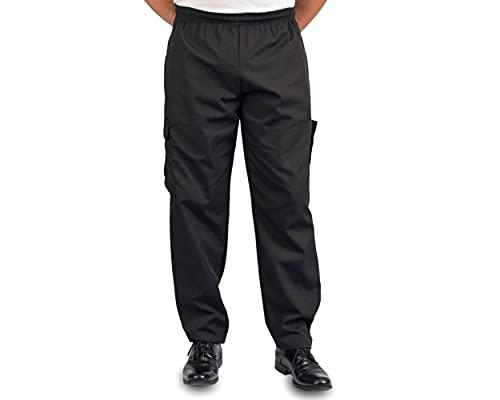 Black Cargo Style Chef Pant, XL