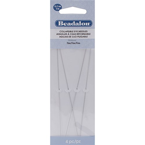Beadalon 700F-150 Collapsible Eye Needles 5-Inch Fine 4 Pack