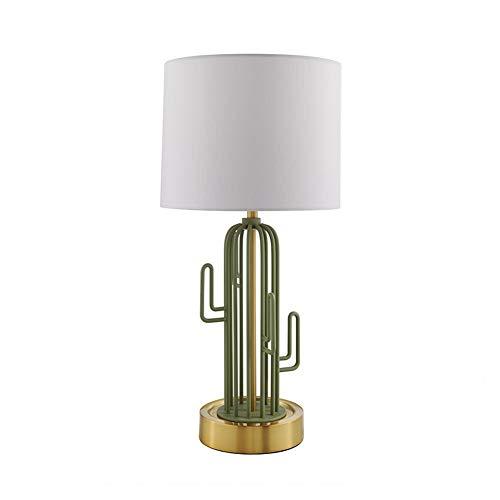 Lámpara de Mesa Luz Nocturna Utilizar en el Dormitorio, Sala de Estar, Mesa de Café, Librería Lámpara de Mesa de Cactus Sencilla y Cálida