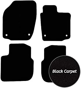 Premier Products Fully Tailored Black Carpet Car Mats for Rapid  2012 Date  Round Fixing