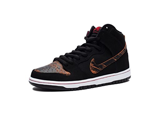 Nike Mens Dunk High Pro SB Distressed Leather Black/University Red Leather Size 8