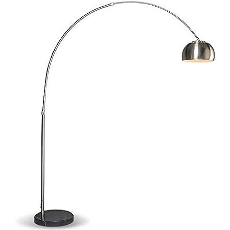 Qazqa Lampadaire   Lampe sur pied à arc Moderne - Booglamp Xxl Lampe Acier - E27 - Convient pour LED - 1 x 60 Watt