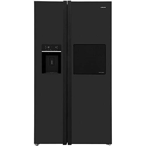 Leisure PAS241MB Freestanding A++ Rated American Fridge Freezer - Black