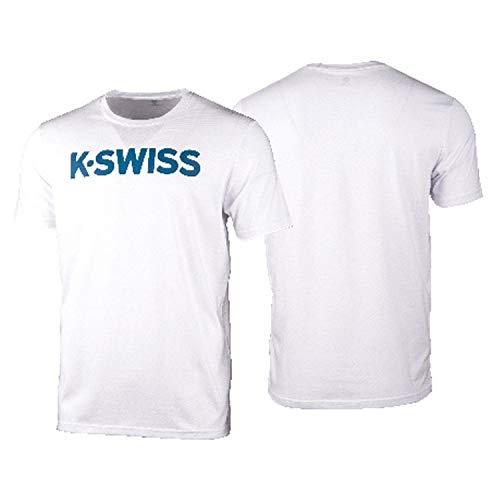 K-Swiss KS TAC Core Logo Camiseta de Tenis, Hombre,...