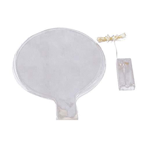 Uonlytech - Juego de 5 globos LED reutilizables, transparentes, redondos, para decoración de bodas, cumpleaños, fiestas (bola de color + 3 metros de línea de luz + caja de 2 pilas)
