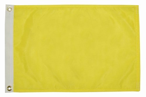 Seagator Premium Quality Yellow Q Quarantine Quebec Bahamas ICS Courtesy Boat Flag (12 inches x 18 inches)