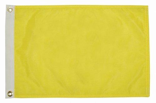Seagator Premium Quality Yellow Q Quarantine Quebec Bahamas ICS Courtesy Boat Flag (12 inches x 18 inches)