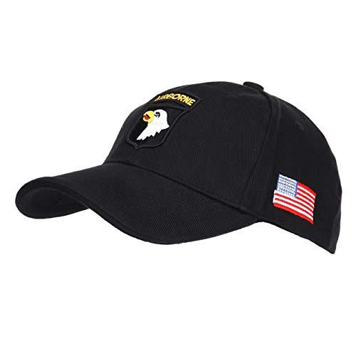 AlxShop - Casquette 101St Airborne - aigle - US - army - protection - soleil - froid - été - hiver - mode - militaire - surplus - outdoor - bonnet - vent - confort - nature - camouflage - montagne - randonnée - sport - Couleur : Black