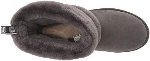 [アグ] クラシックブーツ Fluff Mini Quilted レディース CHARCOAL 24.0 cm