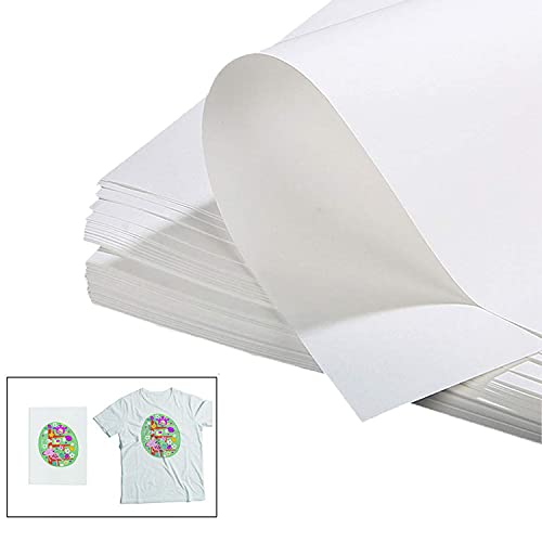 20 Fogli di Carta Trasferibili per Magliette, per Stampanti a Getto D'inchiostro Compatibile con Luce Color t-Shirt/Fibra Chimica/Panno Misto Cotone Dimensioni 8,2 x 11,7 Pollici