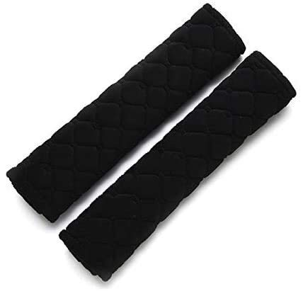 DFVV Seat belt shoulder guard for Fashion Car Seatbelt Shoulder Pad Comfortable Driving Seat Belt Vehicle Soft Plush Auto Seatbelt Strap Harness Cover 1pc Seat belt protector (Size : Black)