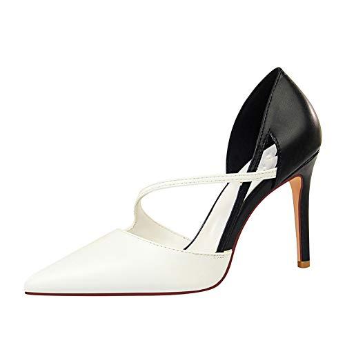 SHOFLKQCS Pump High Heel Dames 9,5 cm hoge hakken sandalen geel rood pumps vrouwelijke holle schoenen