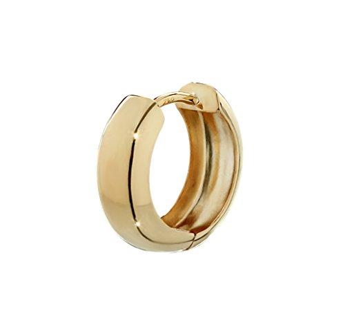 NKlaus orecchino singolo a cerniera in oro giallo 750 12,2 x 3,2mm alto lucido rotondo 4738