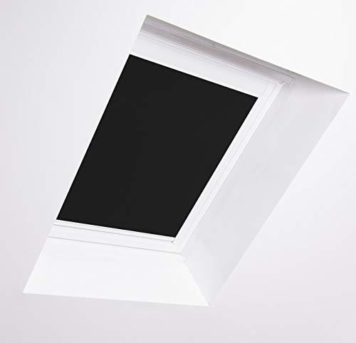 Bloc Jalousien für Dakstra Dachfenster, weißer Aluminiumrahmen schwarz Verdunkelung, F6A