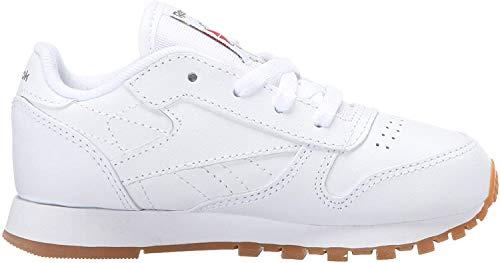 Reebok Boys' Classic Leather Shoes-Little Kids Sneaker, White/Gum, 11.5