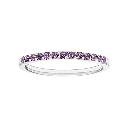 Birthstone Half-Eternity Stackable Ring by Boston Bay Diamonds