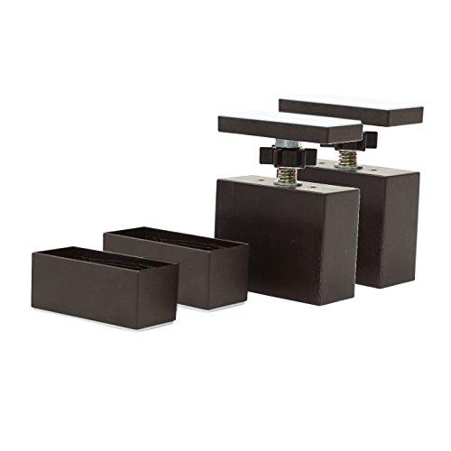 平安伸銅工業 LABRICO  DIY収納パーツ 2×4アジャスター ブロンズ  【2個セット販売】 DXB-1-2