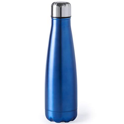 eBuy GB - Thermos da viaggio, in acciaio INOX, 630 ml, colore: Blu