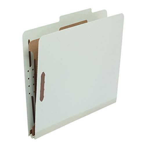 Amazon Basics Classification Folder- 100% Recycled, 1 Divider, 2-Inch...