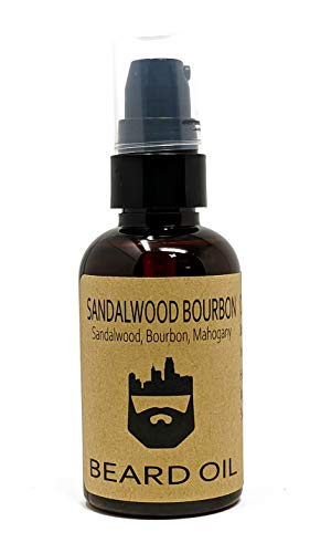 OakCityBeardCo. - Sandalwood Bourbon - 2oz Beard Oil - Beard Conditioner - Sandalwood - Bourbon - Mahogany - Our Most Popular Scent!