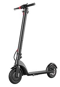 """elrofu E-Scooter """"X7"""", 25 km/h, 350 Watt, 12,5 kg, herausnehmbarer 36 V/5Ah Lithium-Akku, Elektro Roller, Elektroroller, E-Roller, Produktvideo, Elektro City Tretroller, Schwarz"""