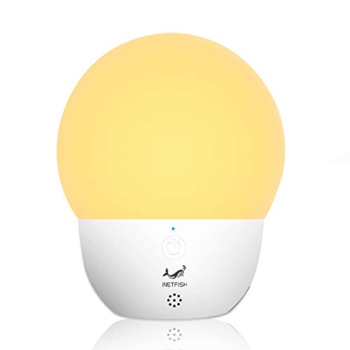 Smart Bedside Lamp, Voice Control LED Table Lamp 5 Brightness Levels, USB Rechargeable Mood Lighting for Bedroom Living Rooms and Office, 3 Color Modes (White)