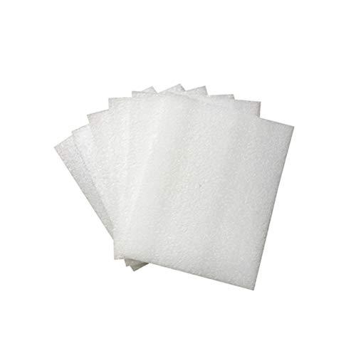 STOBOK 50pcs Cushion Foam Sheets Dämpfung Verpackungsschaum Verpackungsmaterial (Weiß 300x250x5mm)