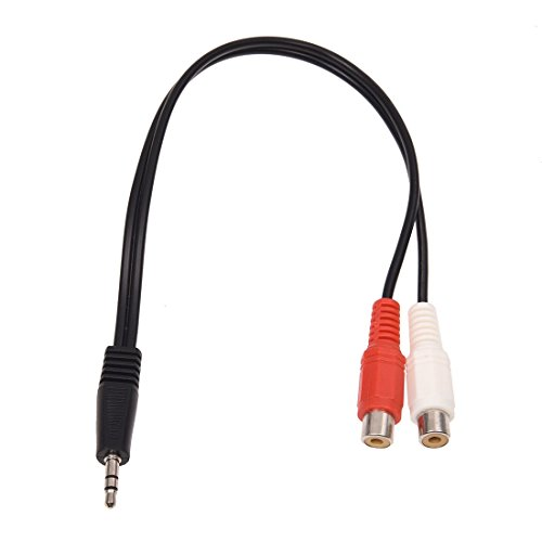 YanYun 3.5mm Adaptador Estereo Jack de Auriculares a 2 RCA Jack Adaptador Cable de Audio, 3,5 mm Macho a 2X RCA Hembra