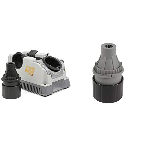 Drill Doctor - DD750X 750X Drill Bit Sharpener for High-Speed Steel, Masonry, Carbide, Cobalt, & TiN-Coated Drill Bits, Sharpens 3/32in – 3/4in Drill Bits Gray/Black & Left-Handed Chuck, 3/32-1/2 in