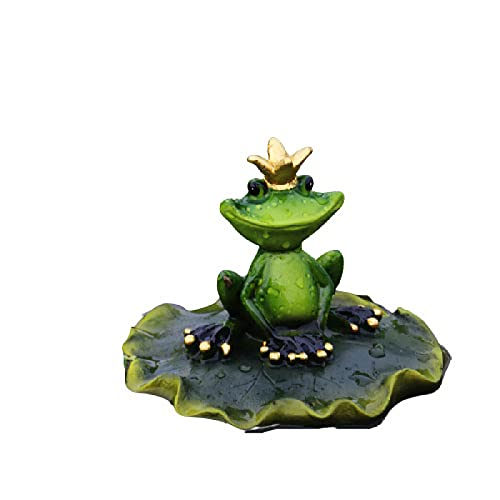 WHXQSH Water Floating Ornament,Frog Floating Pond Decoration,Cute Rowing Frog Statue Yard Lawn Decorations Frog Ornaments,A