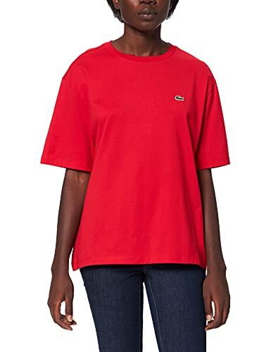 Lacoste TF5441 Camiseta, Rouge, 42 para Mujer