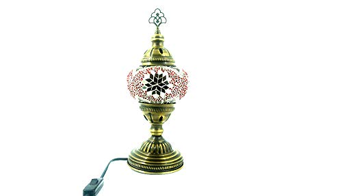 Oosterse Turks Tiffany stijl Glasmozaïek Aziatisch handgemaakte mozaïek tafel lamp binnenlamp bedlampje bijzetlamp handgemaakt mozaïek glas tafellamp glasmaat 2